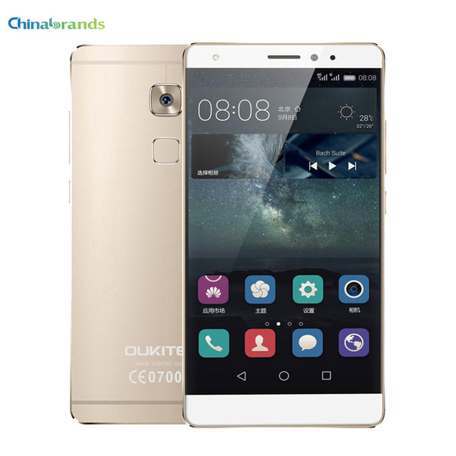 Free Case OUKITEL U13 5.5'' 4G Smartphone Android 6.0 MTK6753 Octa Core 1.3GHz 3GB 64GB 13.0MP Fingerprint Senor FOTA Dual SIM