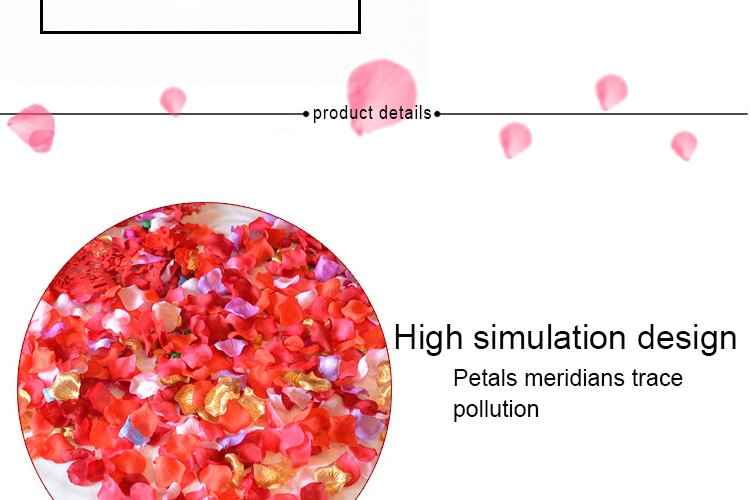FENGRISE Wedding Events Decoration 500pcs Silk Rose Petals Table Artificial Flowers Engagement Celebrations Party Supplies