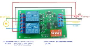 Modbus RTU & AT mand 2ch RS485 Relay PLC Controller
