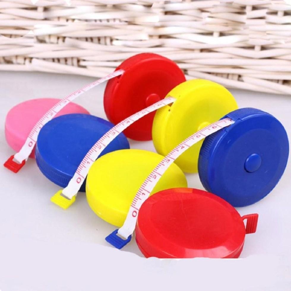 1 PCS Useful Retractable Ruler Tape Measure Sewing Cloth Dieting Tailor 1.5M Mini Cute Style Random Color