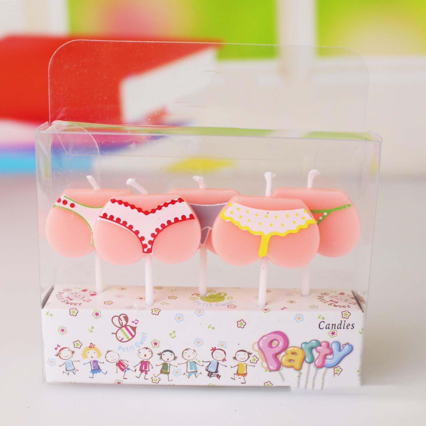 1 set Cartoon Candles for Birthday Cake stylish Ornament bikini Form ...