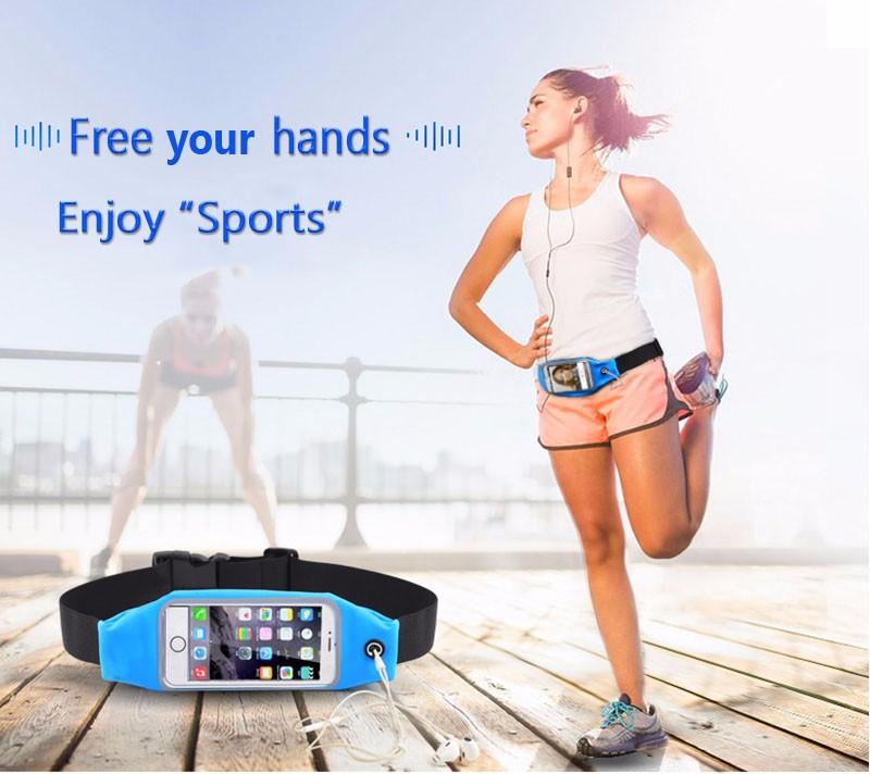 כושר מותן תיק עמיד למים ספורט קייס לאייפון 6 6 פלוס Samsung Galaxy Grand Prime J5 S5 S6 פועל הארנק לטלפון נייד כיס