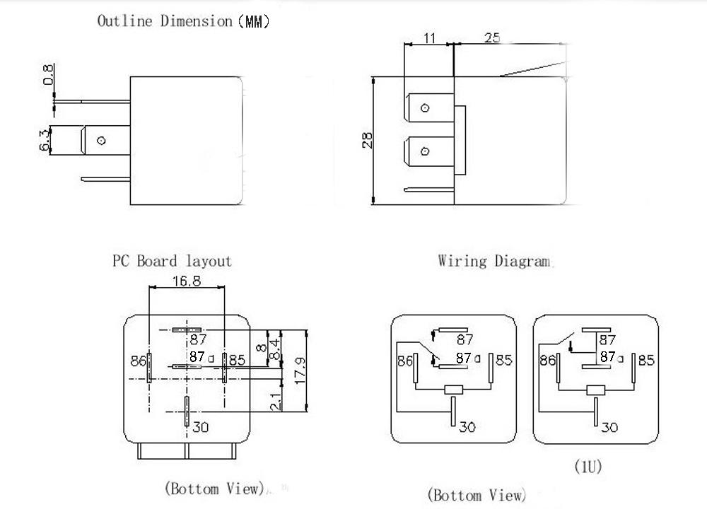 30 X 5 Pin Car Relay Module 40A 12V Relay Lot Controller