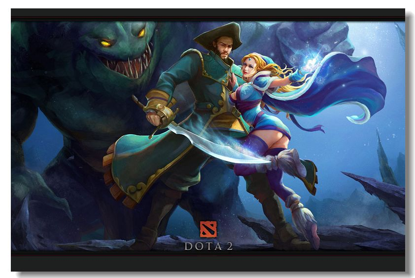 DOTA 2 Defense Of The Ancients Silk Wall Poster 36x24