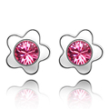 Famous Brand Jewelry Round Stud Earrings With Swarovski Elements Crystal For Valentine's Day Gift