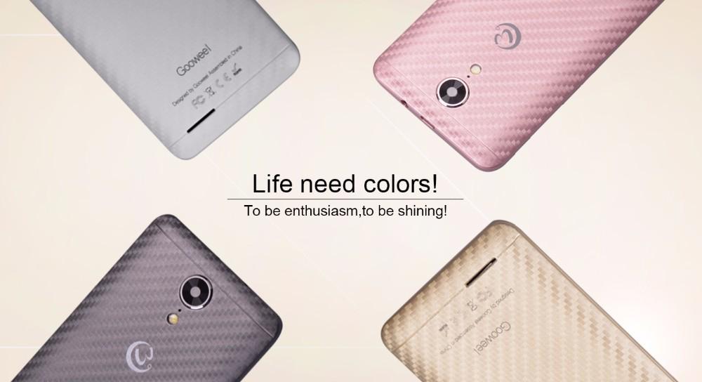 GOOWEEL M9mini + 4.5 inch IPS אנדרואיד 5.1 החכם MT6580 Quad Core טלפון נייד 1GB 8GB + GPS טלפון נייד 3G 5.0 MP מצלמה