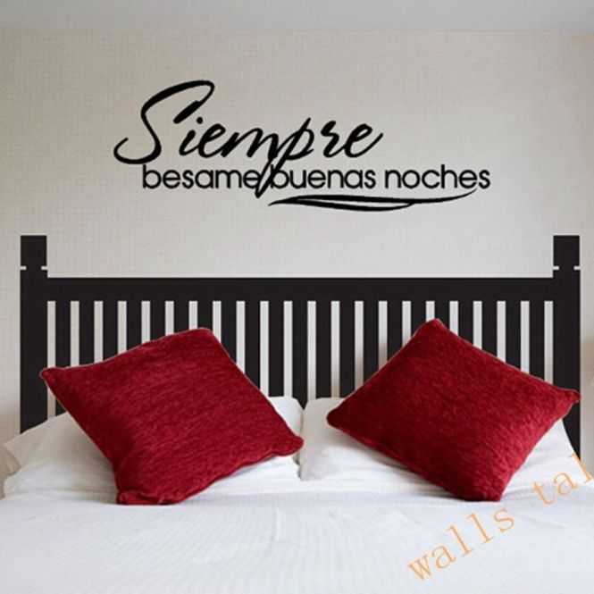 Family Rule Spanish Wall Sticker Quote Character Art House Decor Vinyl Home Rules Words Decals Removable Room Decoration