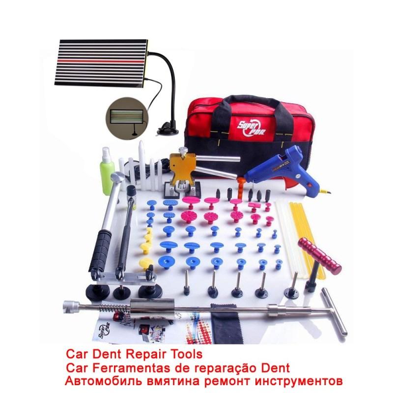 סופר PDR דנט מרים ערכת דבק פולר Paintless Dent Repair Tool תיק יחי להסרת 68pcs