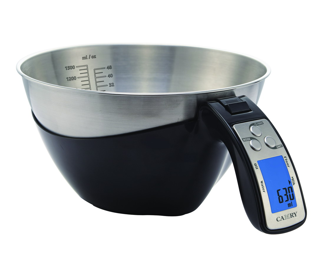 Camry Kitchen Scale Cooking Tools Digital Measuring Bowl