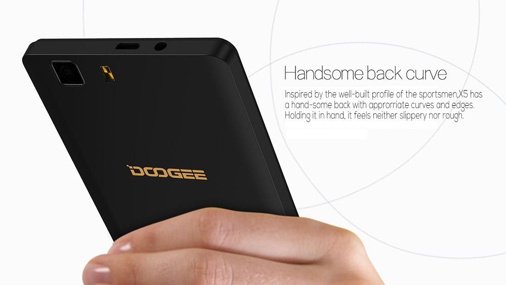 מקורי לdoogee X5 5.0 inch HD 1280*720 תצוגת IPS אנדרואיד 5.1 MTK6580 Quad Core Smartphone 3G-SIM הכפול 1G RAM 8G ROM 8.0 MP+5.0 MP חם