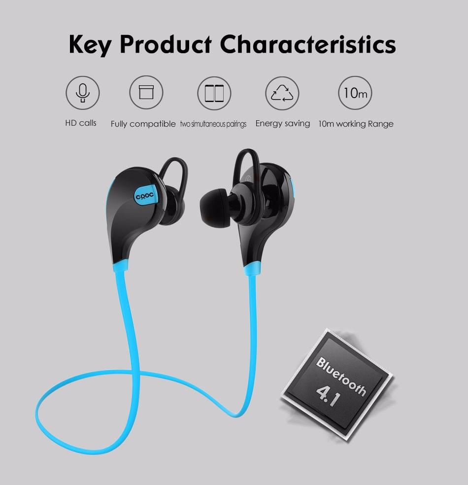 CRDC אוזניות Bluetooth 4.1 ספורט אוזניות אלחוטיות סטריאו מוסיקה מיני האוזניים הכי טוב הפעלת דיבורית אוזניות עם מיקרופון