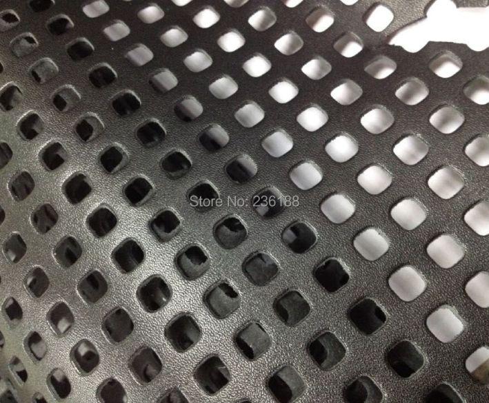 Black Square Perforated Genuine Skin Leather Fabric for Shoes /Handbag/Purse Accessory ,Free Shipping HTB1uWe8HFXXXXaYXXXXq6xXFXXXe