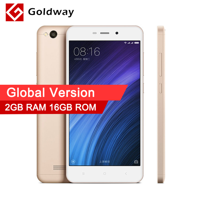 Original Xiaomi Redmi 4A Global Version Mobile Phone Snapdragon 425 Quad Core CPU 4G LTE 2GB RAM 16GB ROM International Version