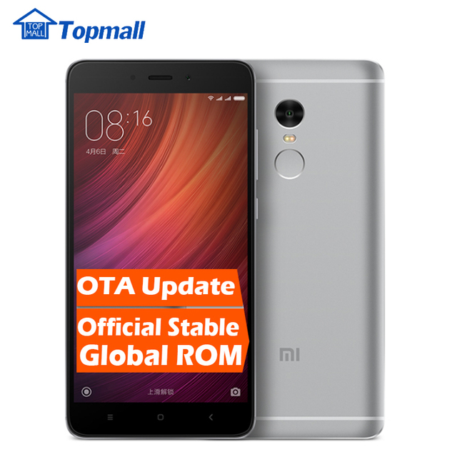 "Original Xiaomi Cell phone Red rice Redmi note 4 Prime 64G ROM MTK Helio X20 Deca Core 5.5 "" 1080P MIUI 8 Fingerprint ID note4"