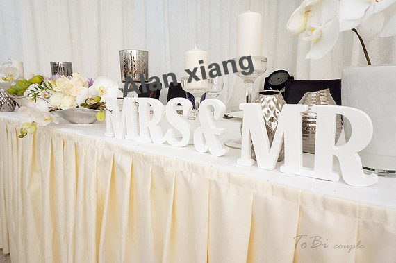 Wedding Sign Mr & Mrs Wooden Letters Table Decor Wedding