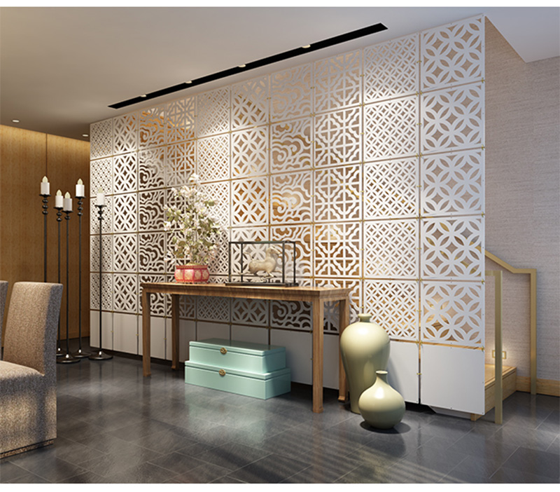 Hanging Room Dividers Partitions Folding Screen Decorative Partition Aluminium Chain Curtain