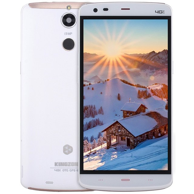 "Original 5.5"" Kingzone Z1 Plus 4G Smartphone Android 5.1 MTK6753 Octa Core Fingerprint Sensor 2GB RAM 16GB ROM 13MP Cameras OTG"