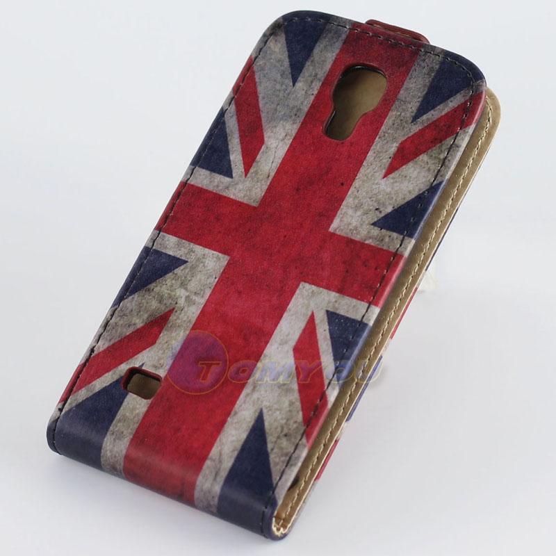 אופנה שזיף, פריחת פרפר Flip עור PU לעמוד הארנק מקרה כיסוי עבור Samsung GALAXY S4 Mini I9190 I9192 טלפון נייד