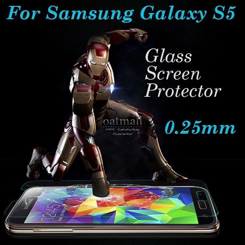 הוכחת פיצוץ זכוכית משוריינת קרום מזג זכוכית משוריינת מגן מסך עבור סמסונג גלקסי S5 i9600 בפני שריטות