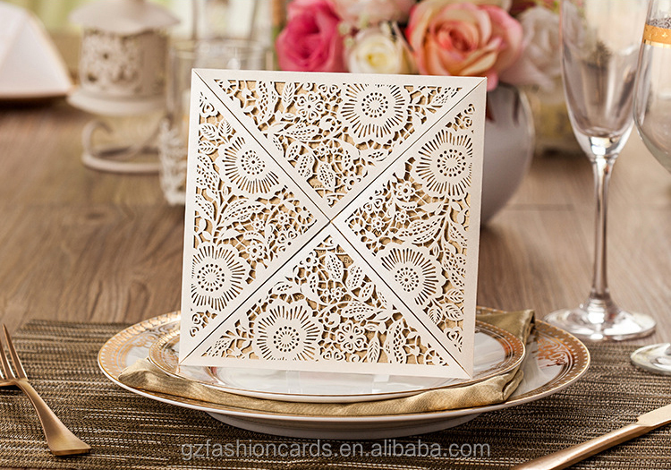 Wedding Invitation Cards Designs 20 Yaseen Ivory