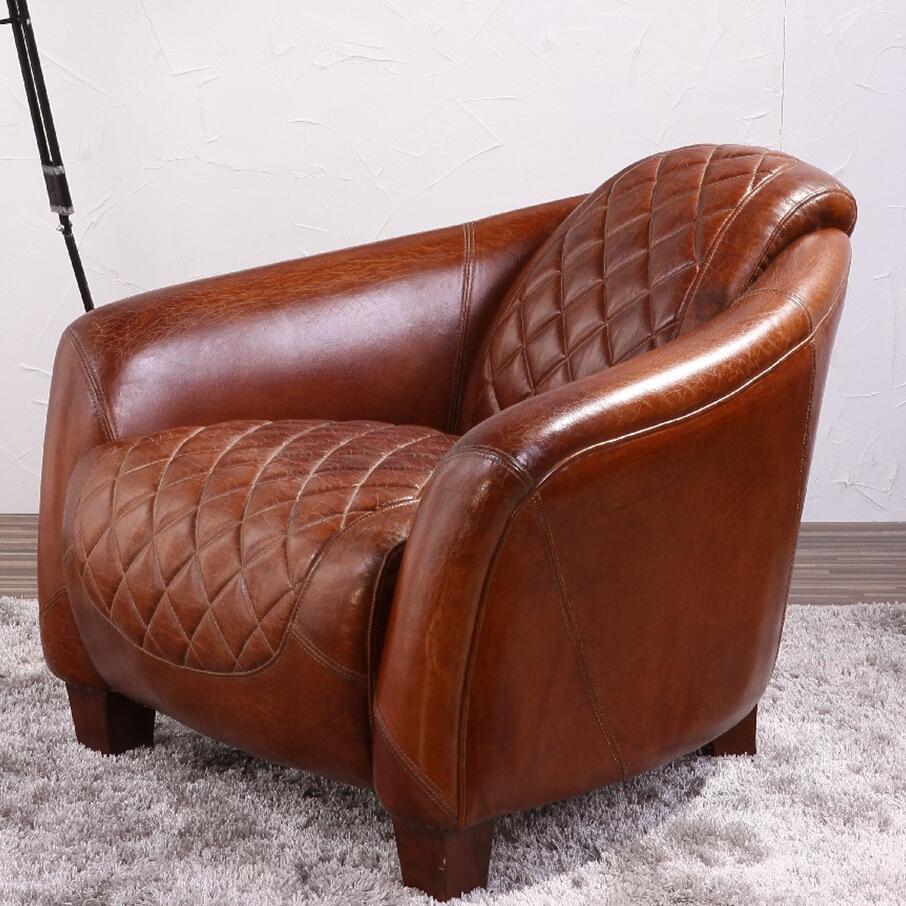 art deco vintage en cuir italien canape fauteuil club