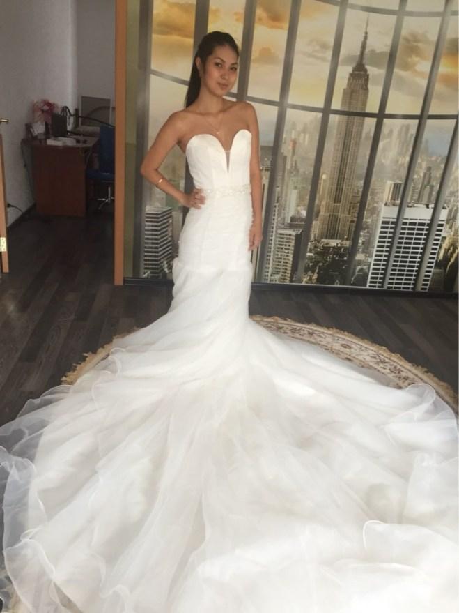 Живые фотографии длинных вечерних платьев с AliExpress.