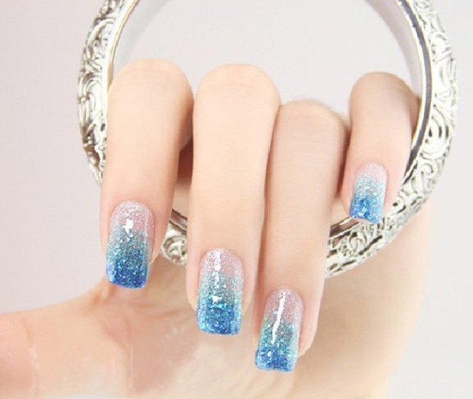 How To Put Glitter On Uv Gel Nails