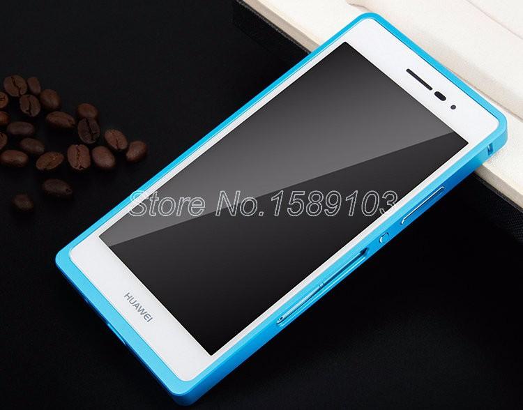 מתכת Huawei Ascend P7 אלומיניום מסגרת הפגוש+כיסוי אחורי עבור Huawei-Ascend P7 Shockproof מקרה טלפון Couqe Funda Ascend P7 קאפה