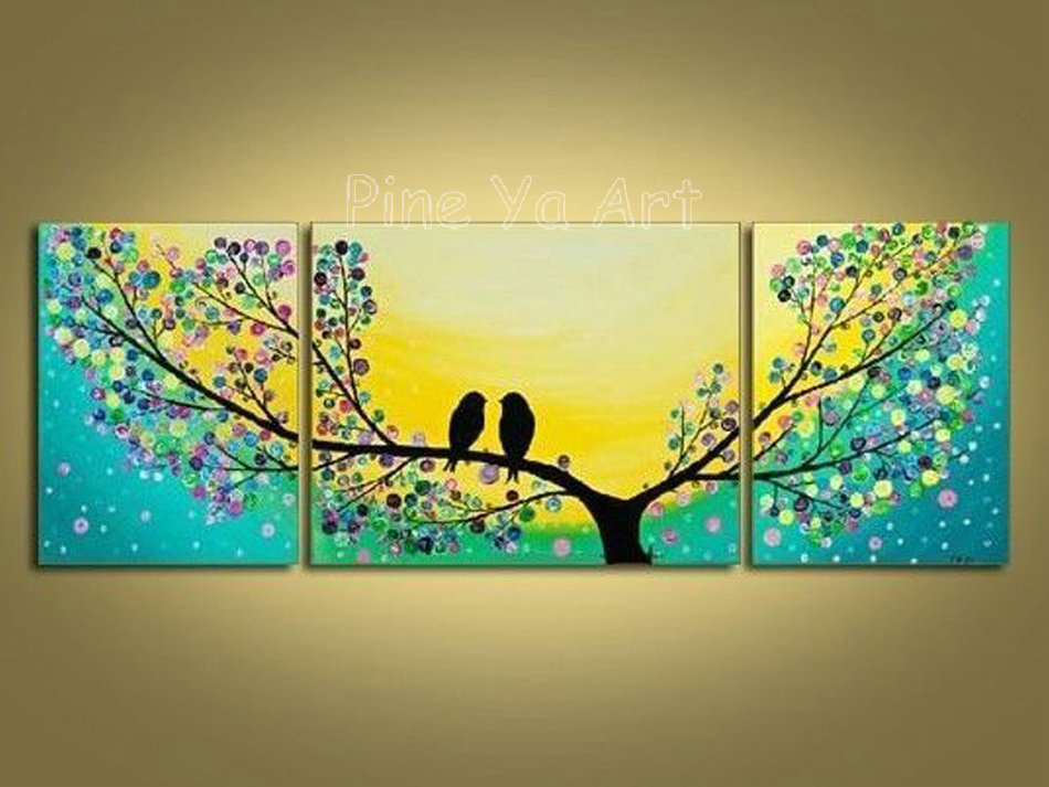 3 Piece Abstract Modern Canvas Wall Art Decorative Tree