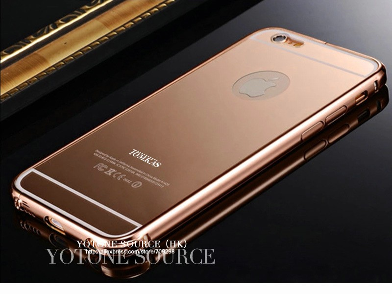 Mirror Case For iPhone 6 4.7 inch Luxury Acrylic+Aluminum Slim Back Cover Case For iPhone 6 Plus 5.5 Mobile Phone Coque TOMKAS