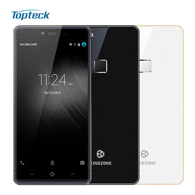 "Original Kingzone K2 4G 5"" FHD Smartphone Android 5.1 Octa Core MT6753 Cellphone 3GB + 16GB 8MP 13MP Fingerprint ID Mobile Phone"
