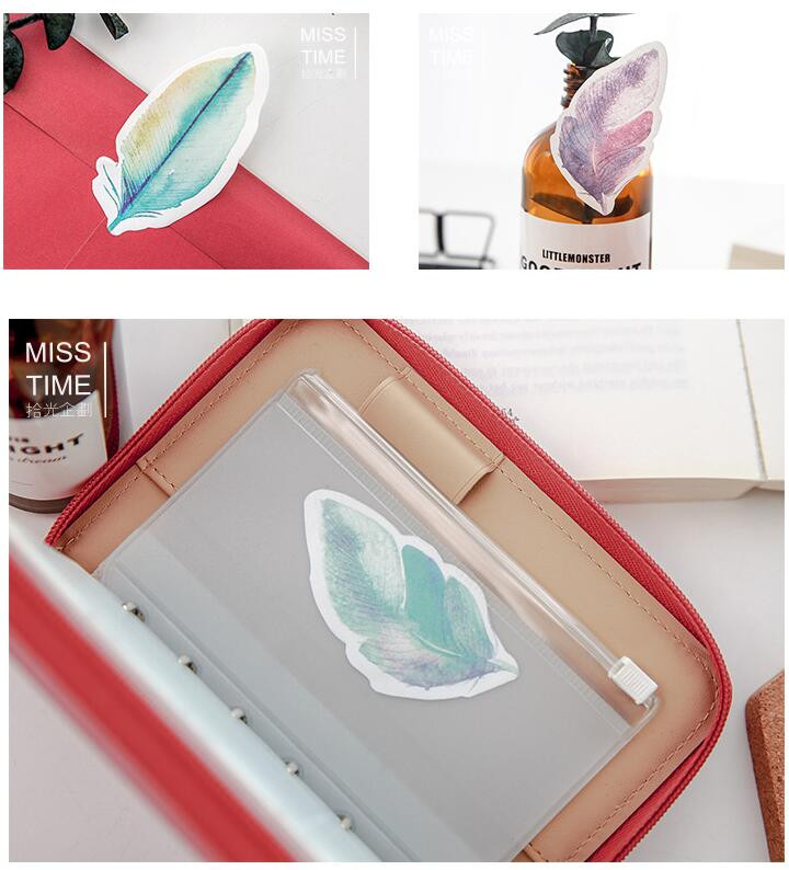 aeProduct.getSubject()  Y56 Recent Colourful Feather Memo Pads Sticky Notes Stick Paper Message Sticker Bookmark Marker of Web page Stationery Faculty Provide HTB1G7pEOVXXXXa