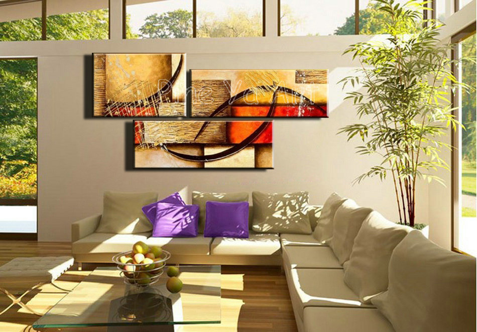 3 Piece Abstract Modern Canvas Wall Art Decorative Large