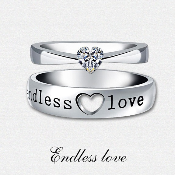 Wedding Rings With Engraved Endless Love Rings Wedding Bands