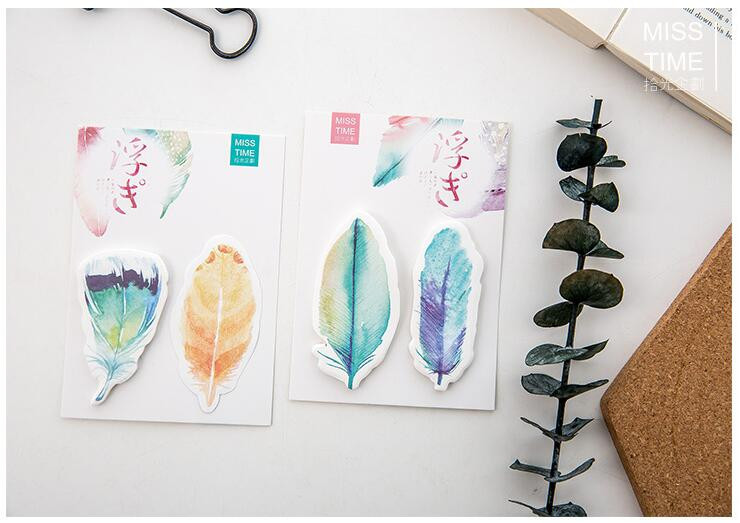 aeProduct.getSubject()  Y56 Recent Colourful Feather Memo Pads Sticky Notes Stick Paper Message Sticker Bookmark Marker of Web page Stationery Faculty Provide HTB1K3hcOVXXXXbfaFXXq6xXFXXXD