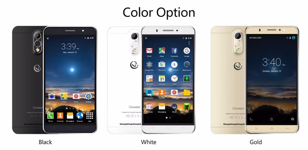 חינם התיק החדש Gooweel M3 Smartphone 6.0 אינץ IPS מסך MTK6580 quad core נייד טלפון 8MP+5MP GPS 1GB RAM 8GB ROM 3G טלפון סלולרי