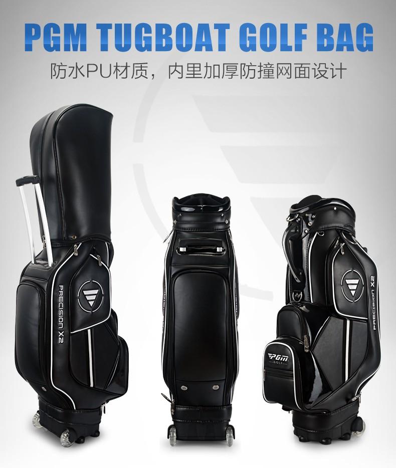HTB1LrsUKVXXXXXJaXXXq6xXFXXXC - PGM Golf travel bag wheels stand caddy airbag flight aviation aircraft high capacity golf cart bag staff golf bags Labor saving