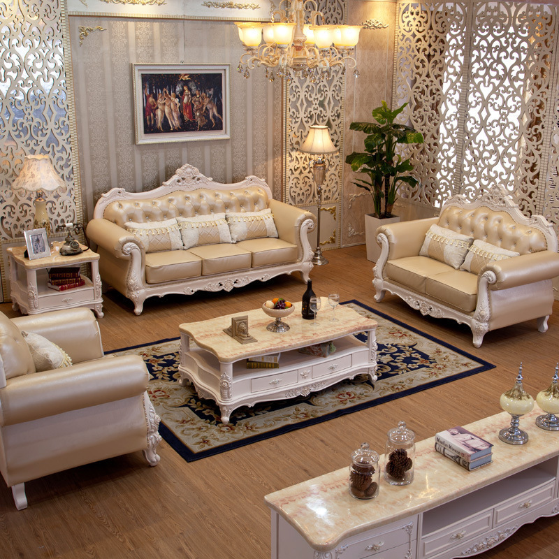 New Style Sofa Set 3pc Euro Leather Sectional