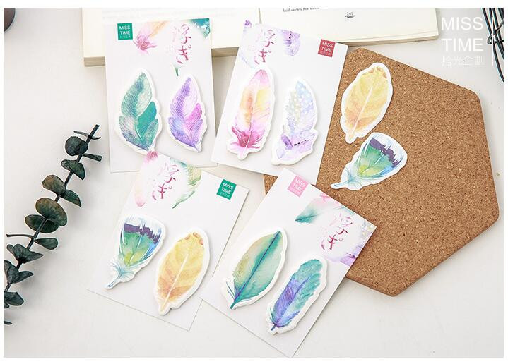aeProduct.getSubject()  Y56 Recent Colourful Feather Memo Pads Sticky Notes Stick Paper Message Sticker Bookmark Marker of Web page Stationery Faculty Provide HTB1NRNrOVXXXXaBaXXXq6xXFXXXe