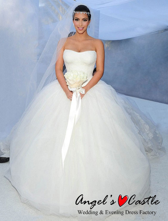 431287f93b79 simple design strapless tulle ball gown wedding dresses bridal gown ebay  china 2015 custom made vestido