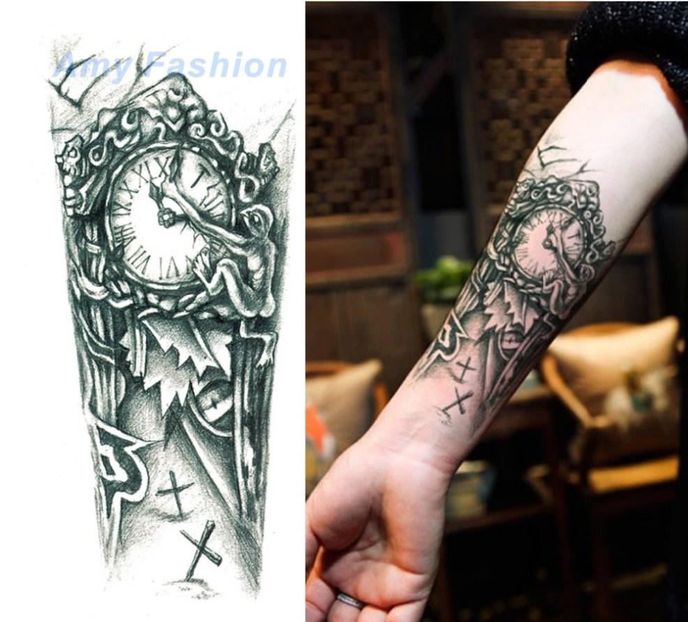 новый водонепроницаемый цветок 3d татуировки наклейки механические