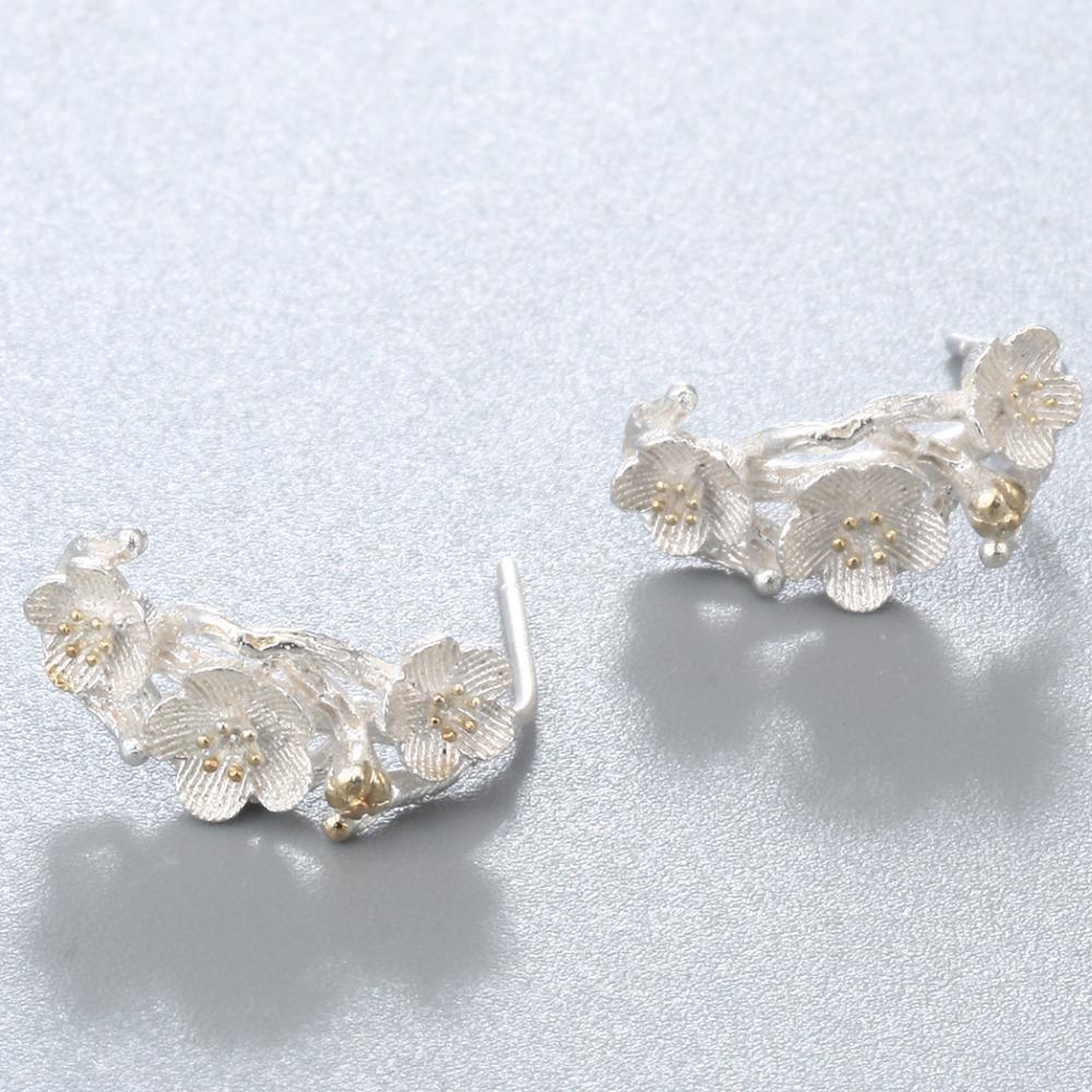 IMG_8899  CHENGXUN Cherry Blossom Equipment Department Flowers Stud Earrings For Girls Marriage ceremony Social gathering Silver Earring Ladies Birthday Decor HTB1Q3RWQXXXXXciXXXXq6xXFXXX2