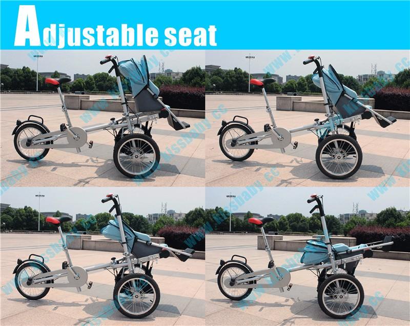 HTB1QWR1OpXXXXaHXXXXq6xXFXXXB - 3 wheel folding stroller bicycle mother baby taga  nucia bike