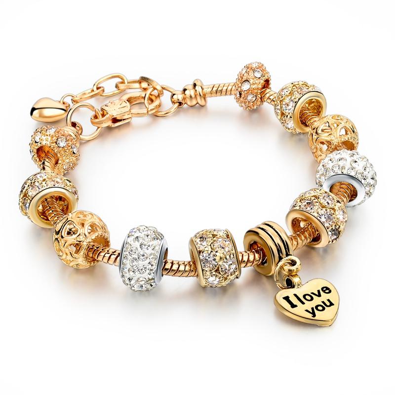 Valentines Day 2016 Heart Charm Bracelets Amp Bangles Gold