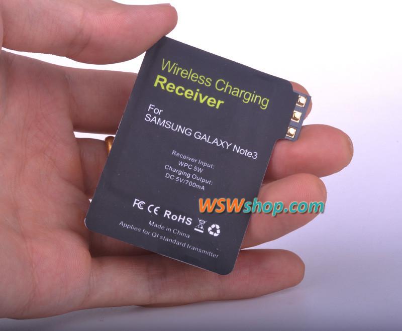 מטען צ 'י מקלט עבור Samsung Note 3 להשתמש מיובאים IC גדול ברונזה סליל צ' י טוב יותר טעינה אלחוטית מקלט עבור גלקסי 3
