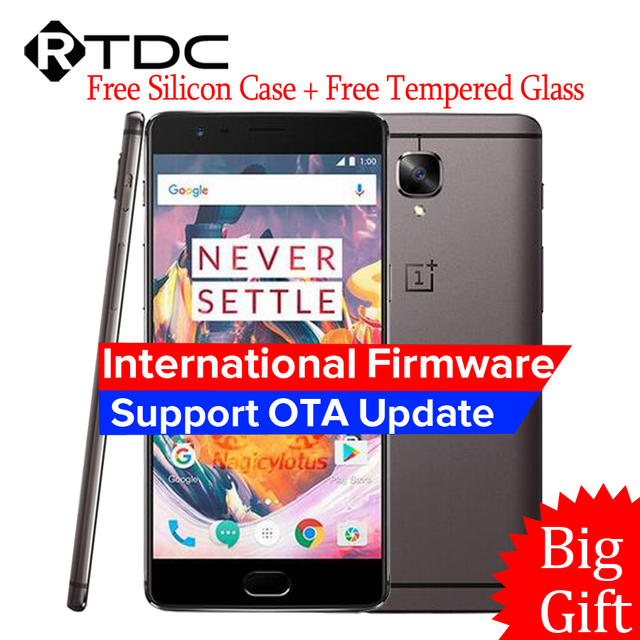 """Oneplus 3 A3000 Oneplus 3T A3010 6GB RAM 64GB ROM Snapdragon 820 821 Quad Core 5.5"""" Android 6.0 Mobile Phone Fingerprint NFC"""