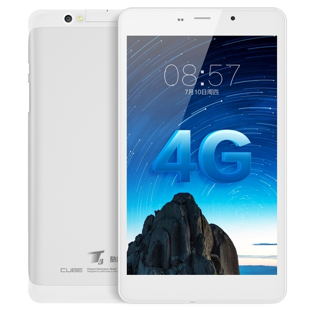 Оригинальный Куб T8 8 дюймов MT8735 Quad Core Android 5.1 4 Г Телефон позвоните 1 ГБ 8 ГБ Tablet PC Dual SIM, GPS, HDMI OTG FDD-LTE WCDMA GSM