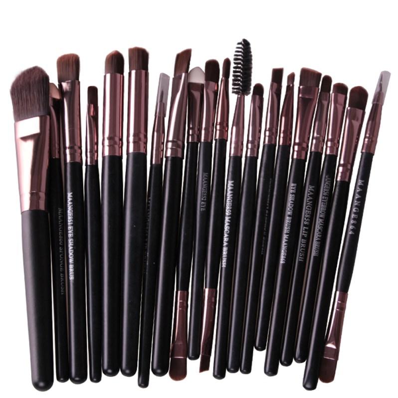 20Pcs Rose gold Makeup Brushes Set Pro Powder Blush Foundation Eyeshadow Eyeliner Lip Cosmetic Brush Beauty Make up Brushes Tool