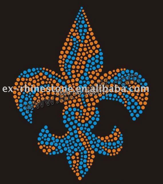 Fleur De Lis Rhinestone Applique