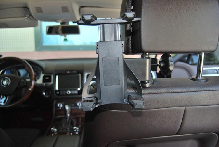 אוניברסלי לרכב במושב האחורי משענת הראש בעל הר שולחן הר מחזיק עבור iPad 2/3/4 Tablet PC GPS לרכב משענת ראש בעל הר-שחור